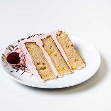 Load image into Gallery viewer, Cocoa and Fig Lemon Raspberry Cake Slice