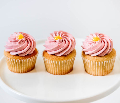 Cocoa and Fig Lemon Raspberry Cupcake