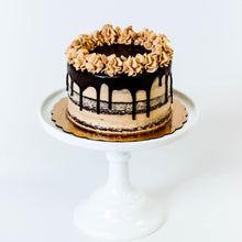 Load image into Gallery viewer, Cocoa and Fig Peanut Butter Bombe Cake