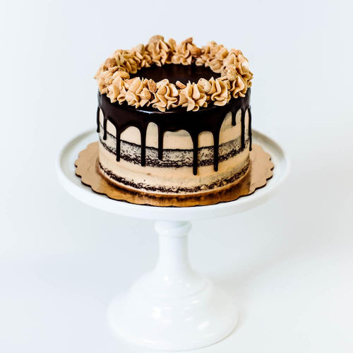 Cocoa and Fig Peanut Butter Bombe Cake