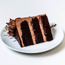 Load image into Gallery viewer, Cocoa and Fig Sinfully Chocolate Cake Slice