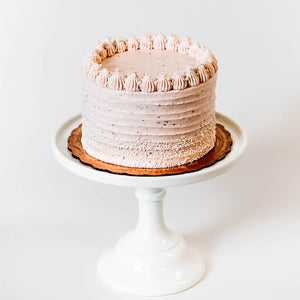 Cocoa and Fig Strawberry Champagne Cake