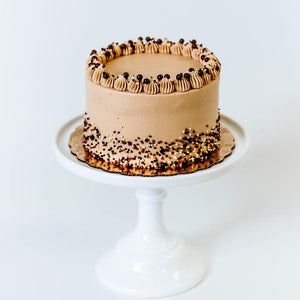Cocoa and Fig Tuxedo Salted Caramel Cake