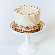 Load image into Gallery viewer, Cocoa and Fig Tuxedo Vanilla Cake