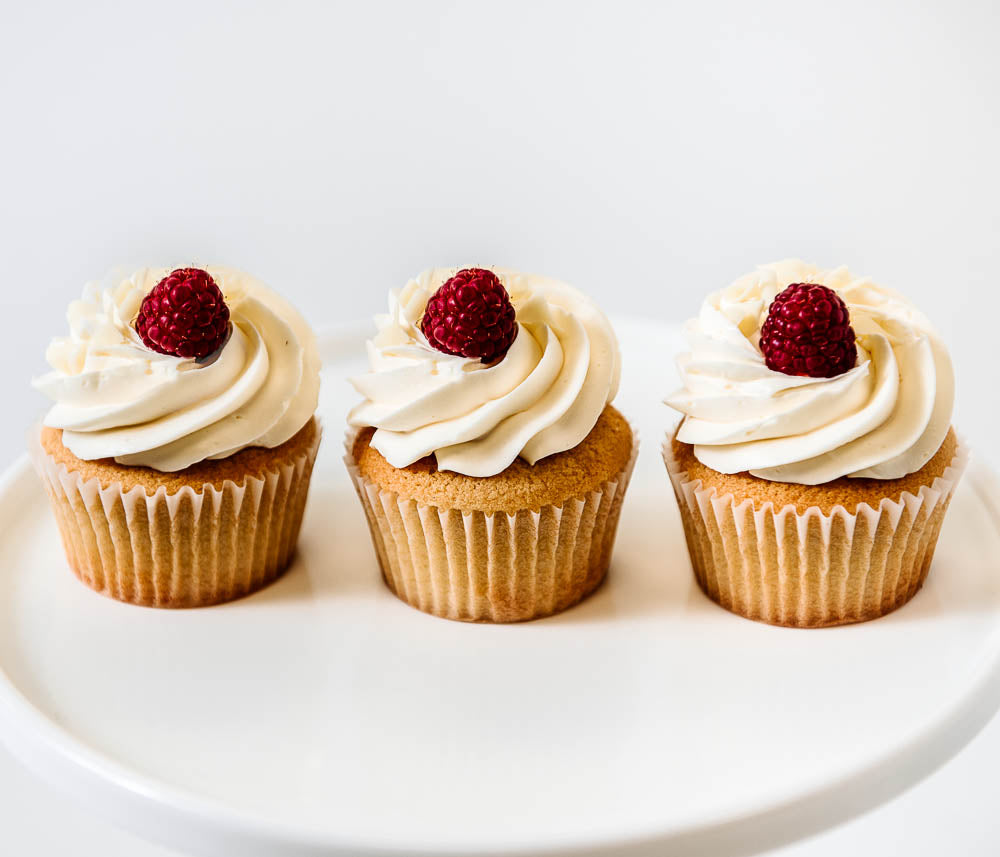 Cocoa and Fig White Chocolate Raspberry Cupcake