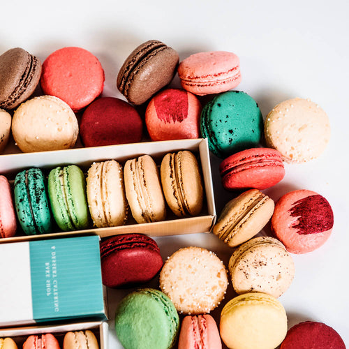 Assortment of French Macaron Flavors