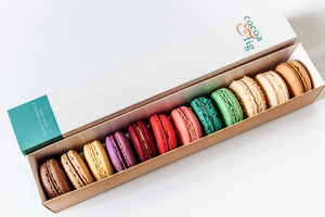Flavor assortment box of French Macarons