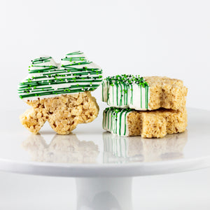 St. Patrick's Day Shamrock Chocolate Dipped Rice Krispie Treats (Gluten Sensitive)