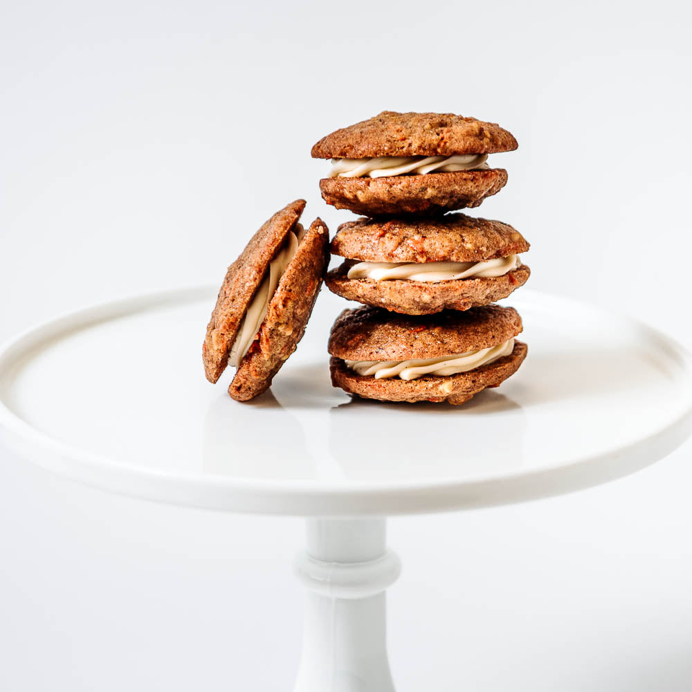 Mini Carrot Cake Sandwich Cookies
