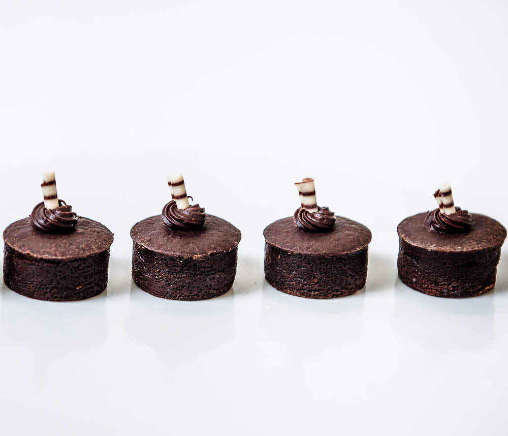 Mini Flourless Chocolate Cakes, gluten free