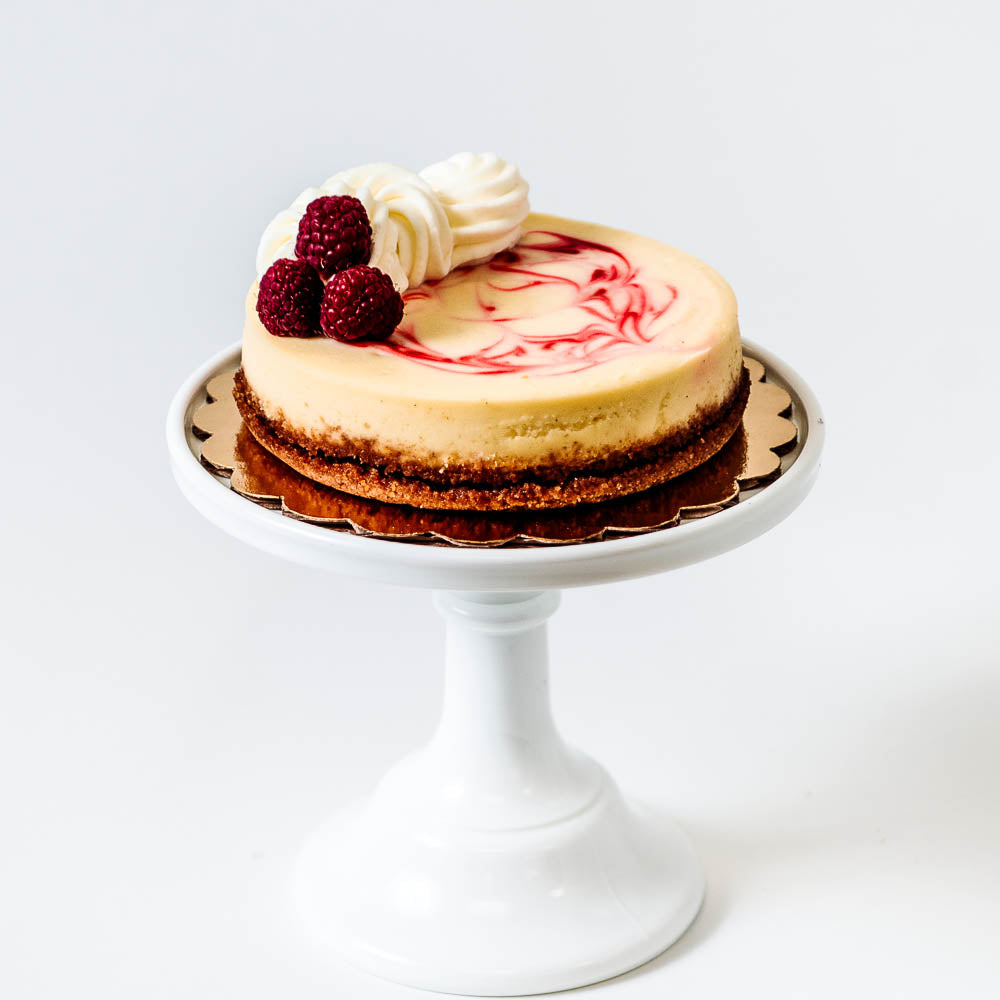 Valentine's Day Raspberry Swirl Cheesecake