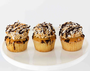 Samoa coconut caramel girl scout cookie cupcake