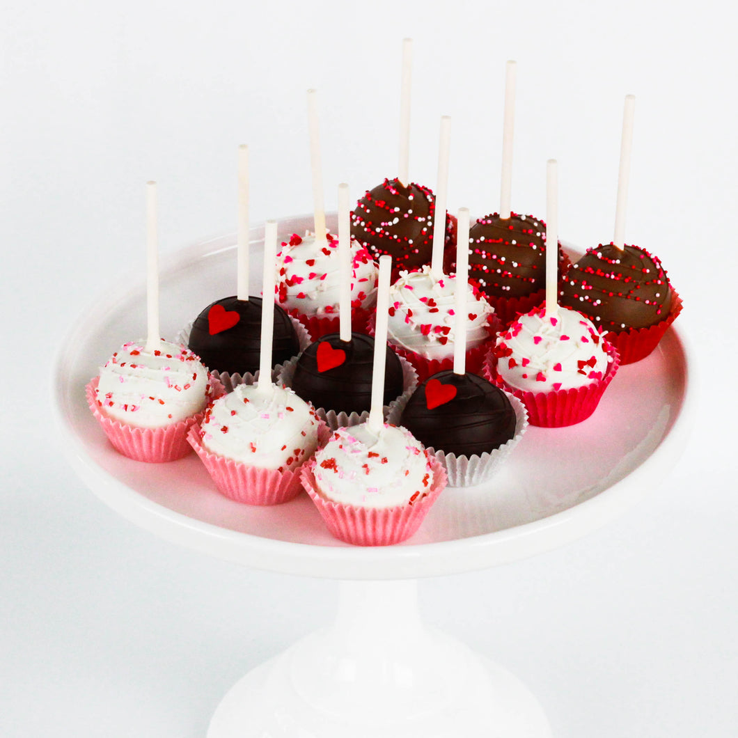 Valentine's Day Cake Lollipops