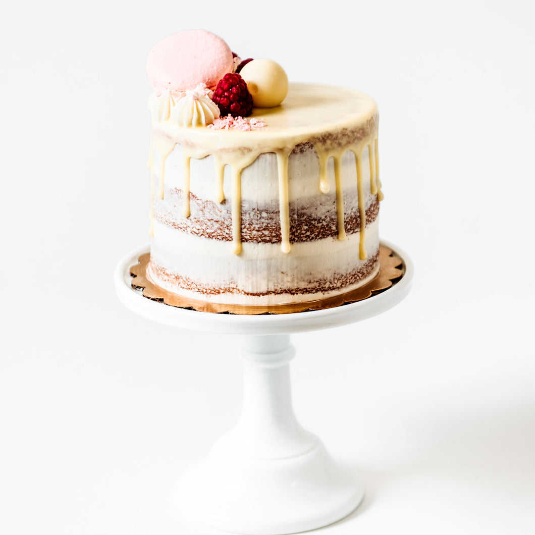 Valentine's Day White Chocolate Raspberry Cake