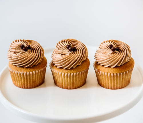 Cocoa and Fig Vanilla Salted Caramel Cupcake