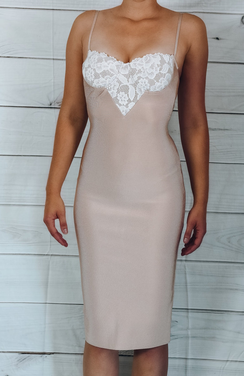 Love Me Bandage Midi Dress - Pink