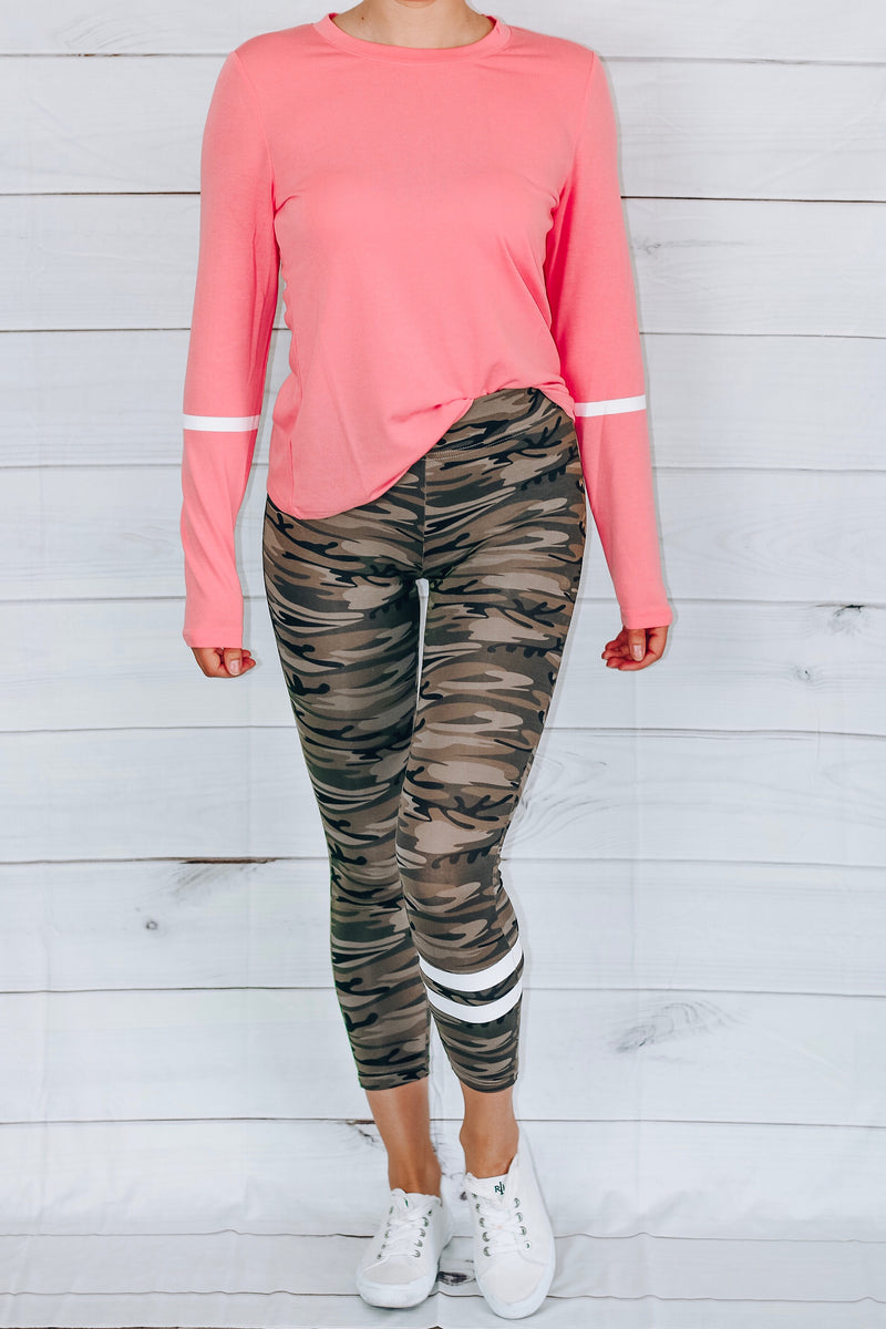 Camouflage Capri Leggings
