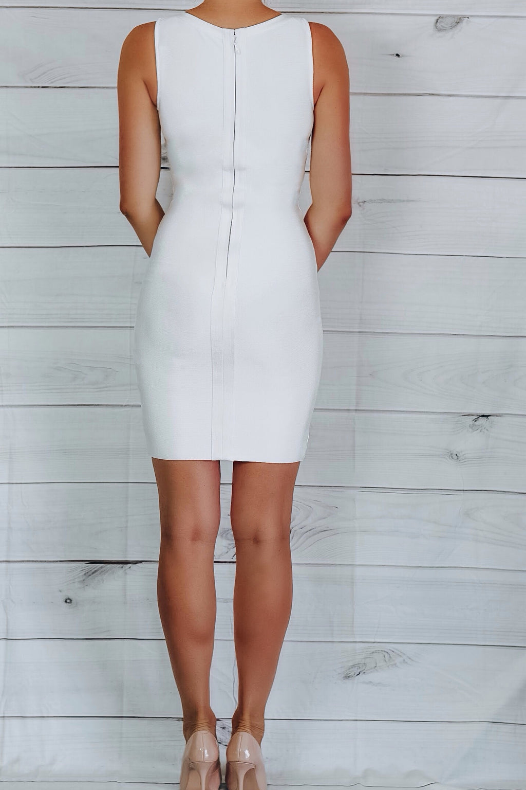 Star Lace-Up Bandage Dress - White