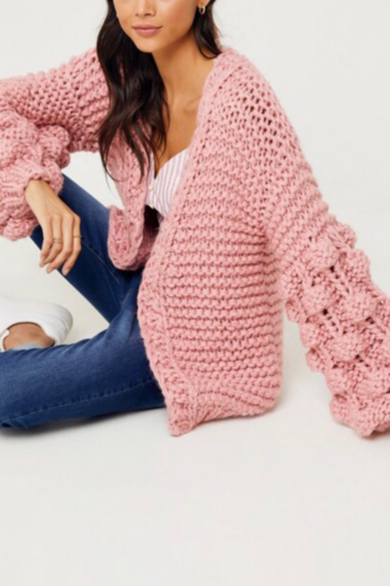 Wonderland Knit Cardigan - Pink