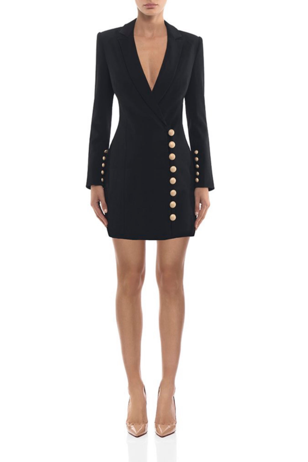 Lana Blazer Dress With Buttons