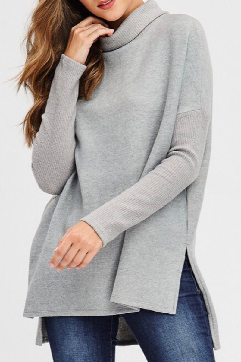Leya Cowl Turtle Neck Top