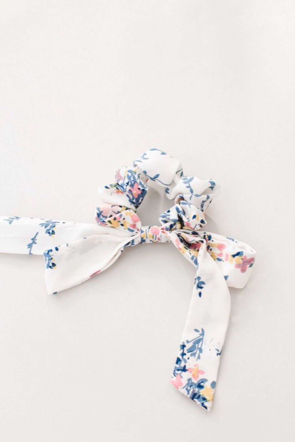Floral Bow Hair Tie