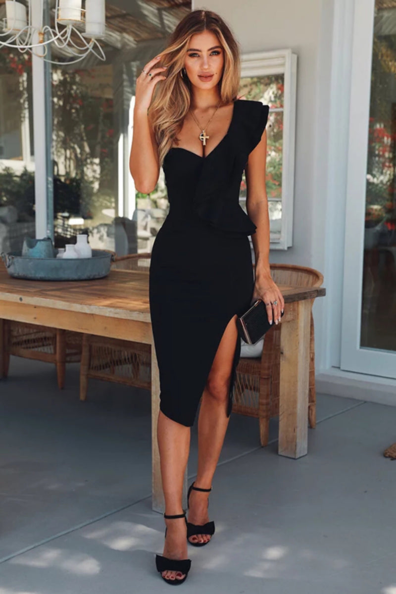 My Lady Midi Bandage Dress with Split