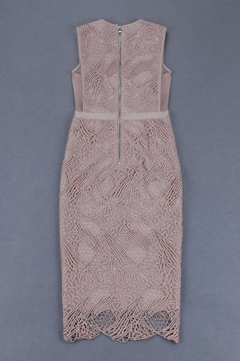 First Lady Midi Bandage Lace Dress