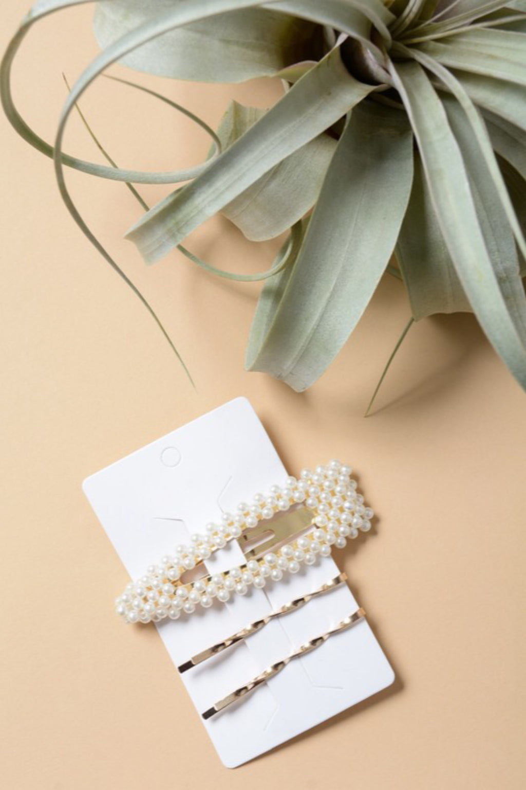 Luxe Pearl Cluster Snap Clip and bobby pin set