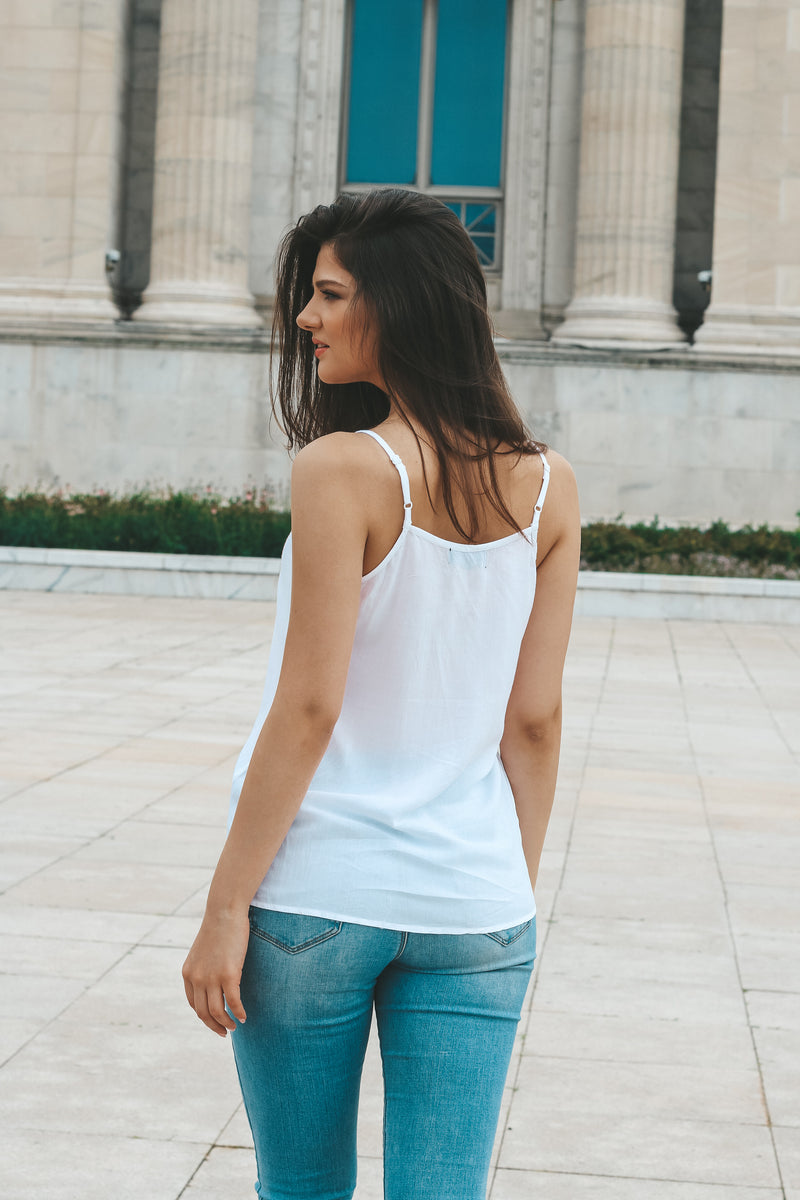 Victoria White Cami Top