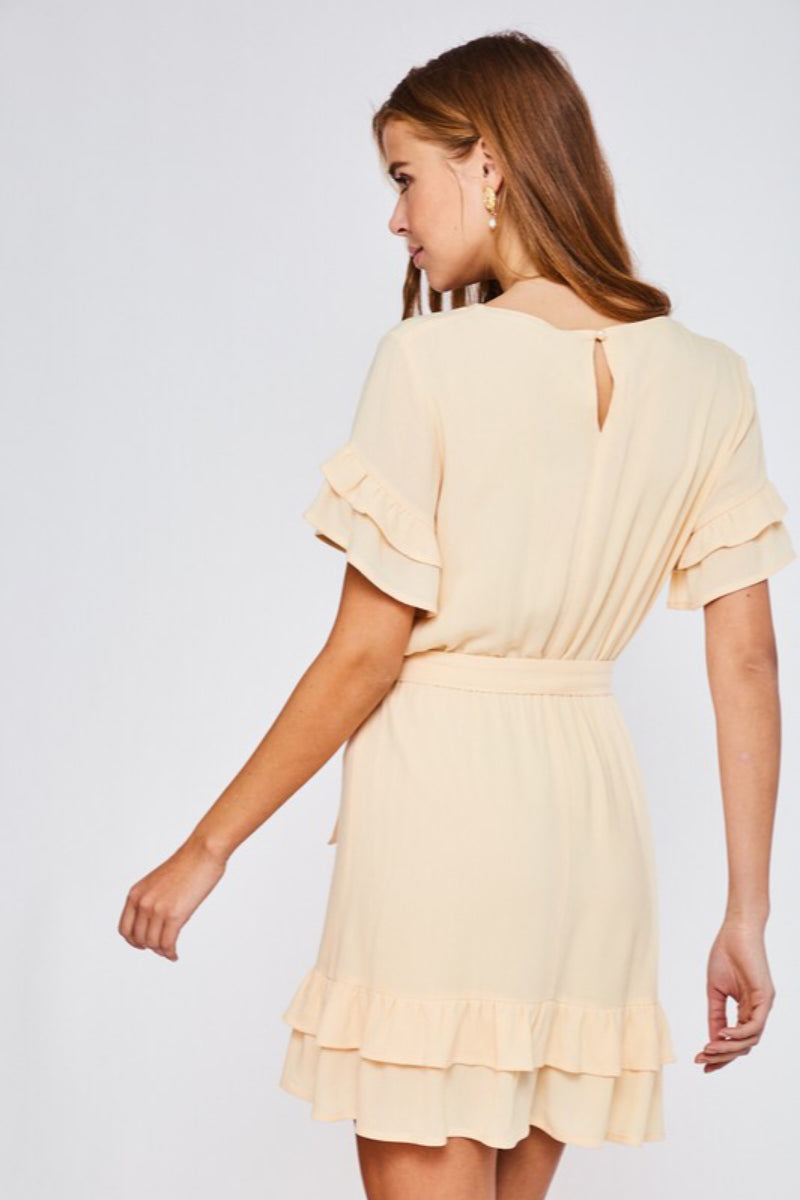 Summer Calls Ruffled V-Neck Dress