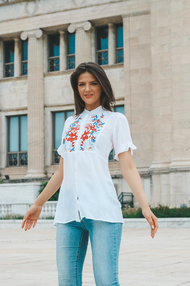 Alissa Embroidered Top