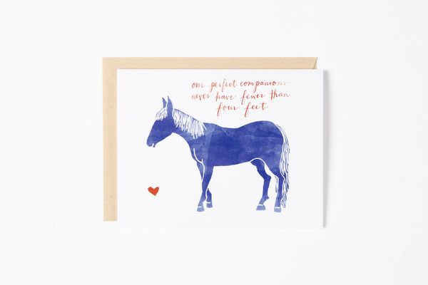 Greeting Card - Horse Companion - Bird and Buffalo, Made in Jackson Hole, WY