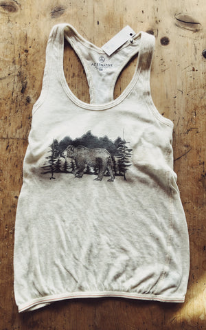 SALE Tank Top - Bear and Mountains - Bird & Buffalo