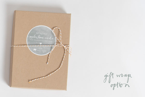 Baby - Milestone Cards - Bird and Buffalo, Made in Jackson Hole, WY