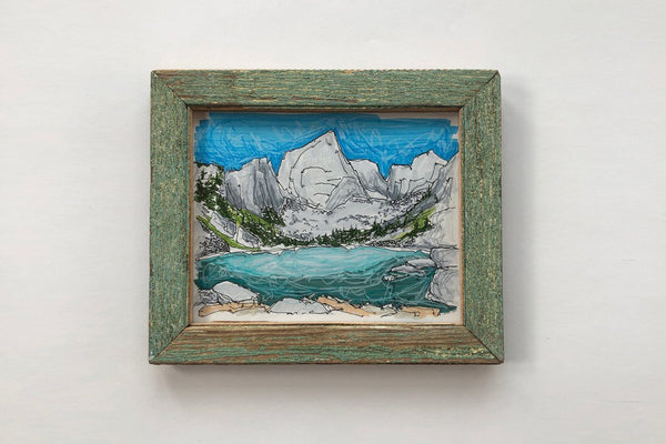 Mountain Lake Green Frame - Bird and Buffalo, Made in Jackson Hole, WY