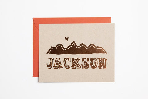 Foil - Jackson Mountains - Bird and Buffalo, Made in Jackson Hole, WY