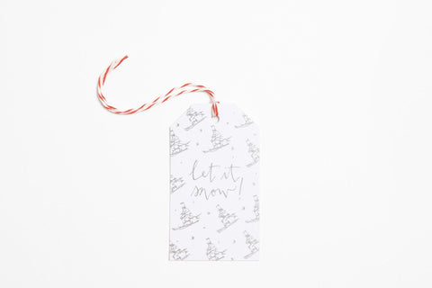 Foil Gift Tag - Let It Snow - Bird and Buffalo, Made in Jackson Hole, WY