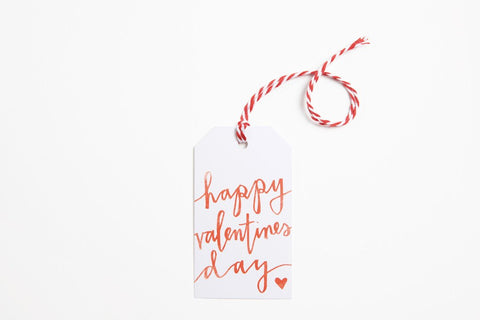 Gift Tag - Happy Valentine's Day Font - Bird and Buffalo, Made in Jackson Hole, WY