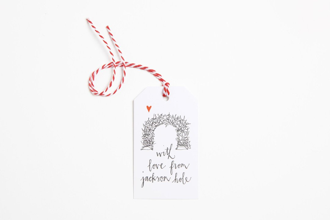 Gift Tag - With Love from Jackson Hole - Bird and Buffalo, Made in Jackson Hole, WY