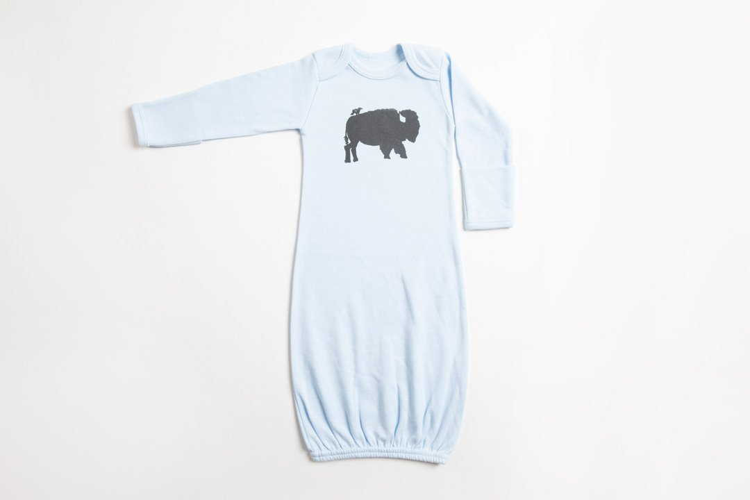 Bird and Buffalo Baby Gown - Bird and Buffalo, Made in Jackson Hole, WY