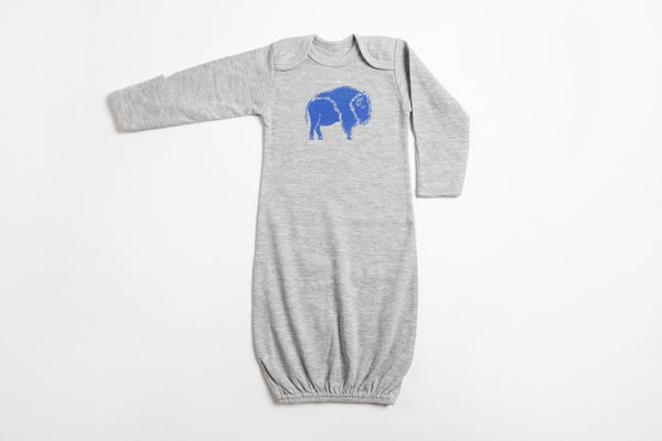 Bison Baby Gown - Bird and Buffalo, Made in Jackson Hole, WY