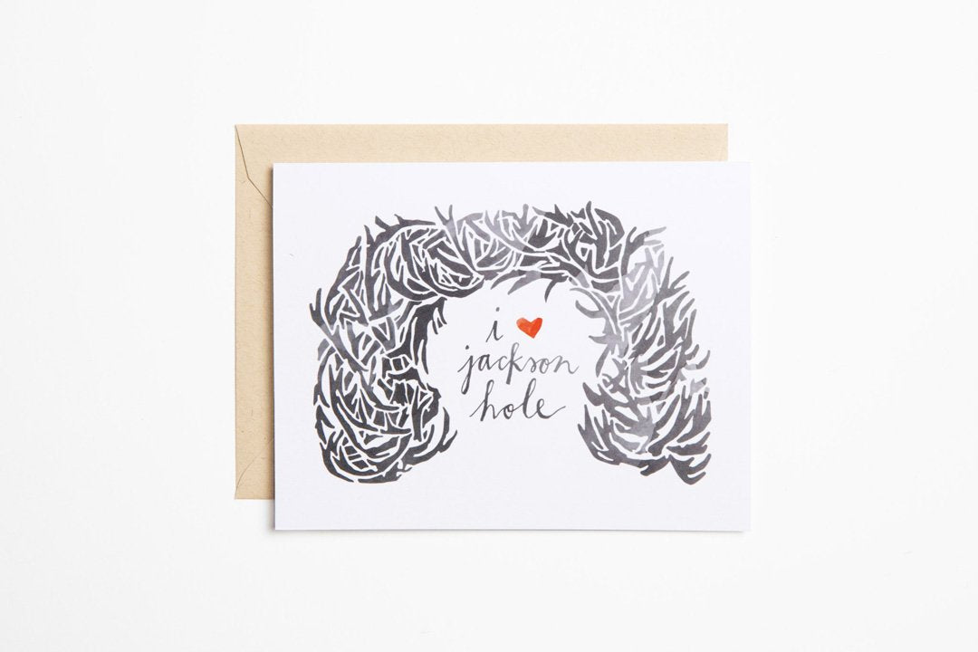 Greeting Card - Antler Arch - Bird and Buffalo, Made in Jackson Hole, WY
