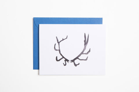Greeting Card - Antler - Bird and Buffalo, Made in Jackson Hole, WY
