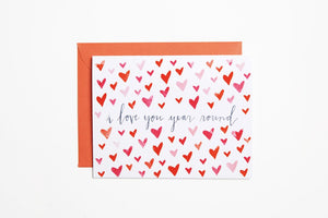 Greeting Card - Love You Year Around - Bird & Buffalo