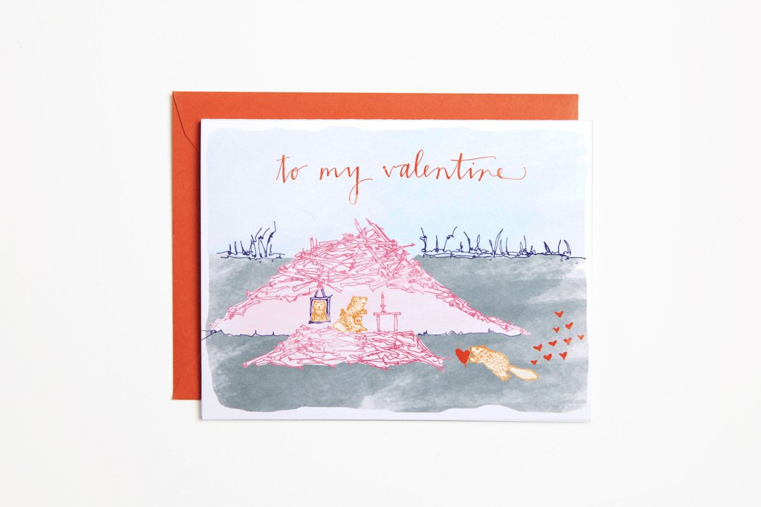 Greeting Card - To My Valentine - Bird and Buffalo, Made in Jackson Hole, WY