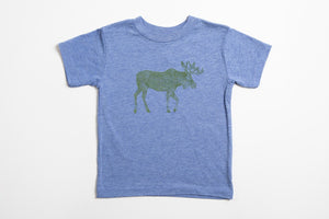 Moose Kid's Shirt Blue - Bird & Buffalo