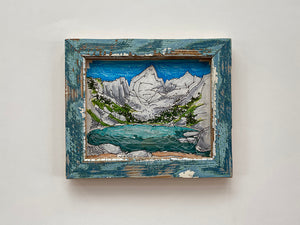 Mountain Lake Two Blue Frame