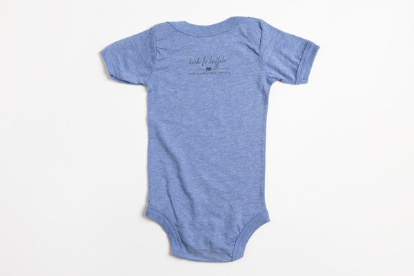 Bison Profile Onesie - Bird and Buffalo, Made in Jackson Hole, WY