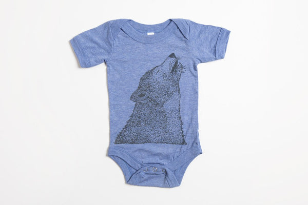 Wolf Onesie - Bird and Buffalo, Made in Jackson Hole, WY